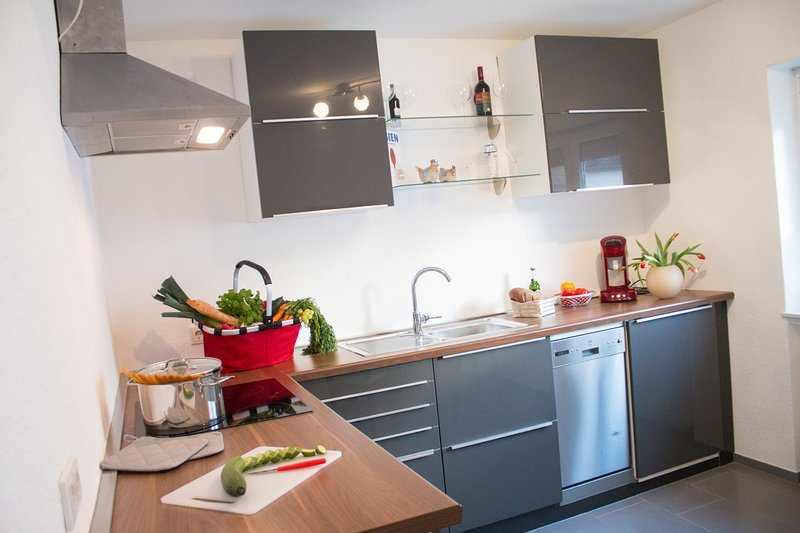 Your ultra-modern, fully equipped kitchen with dishwasher and much more.