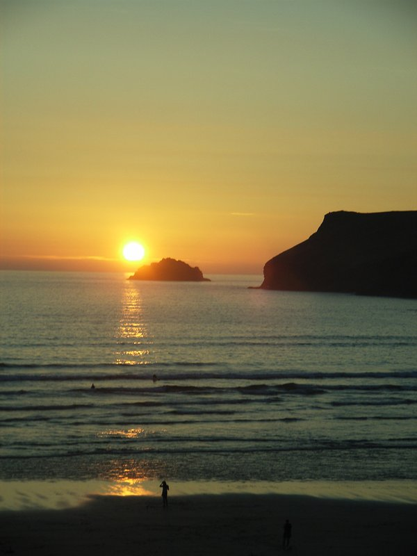 Pentire Point at sunset