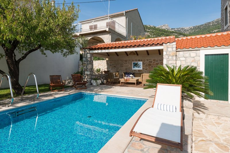 Villa Sea Side Bol with a pool in the town of Bol on the island of Brac