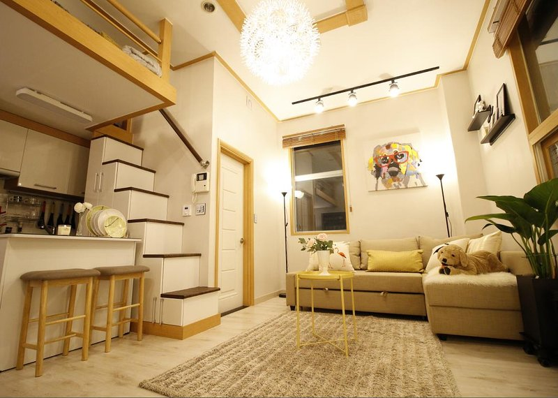 Cozy Duplex & Home Theater Near Hongdae Has Housekeeping ...