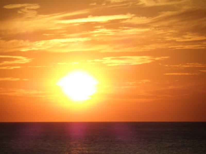 Puesta de sol en el mes de febrero de 2017.