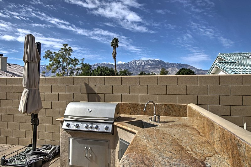 Fire up a feast on the outdoor gas grill.