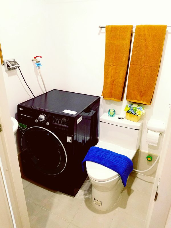 2nd bathroom: with washer dryer, water heater and bidet