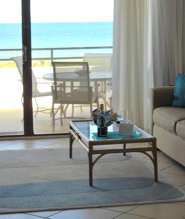 Balcony overlooking the ocean