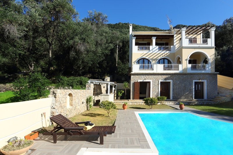 Villa Vasiliki -  4 bedrooms with private pool & Wi-Fi !!!, vacation rental in Corfu