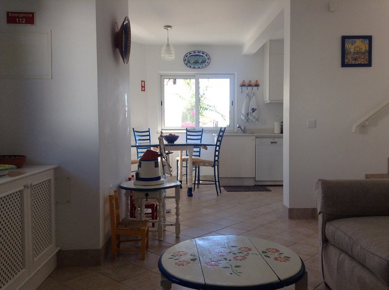 Holiday House very close to beach and seafront with sun terraces and view of sea, vacation rental in Almancil