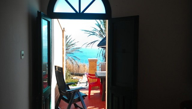 view from inside the house