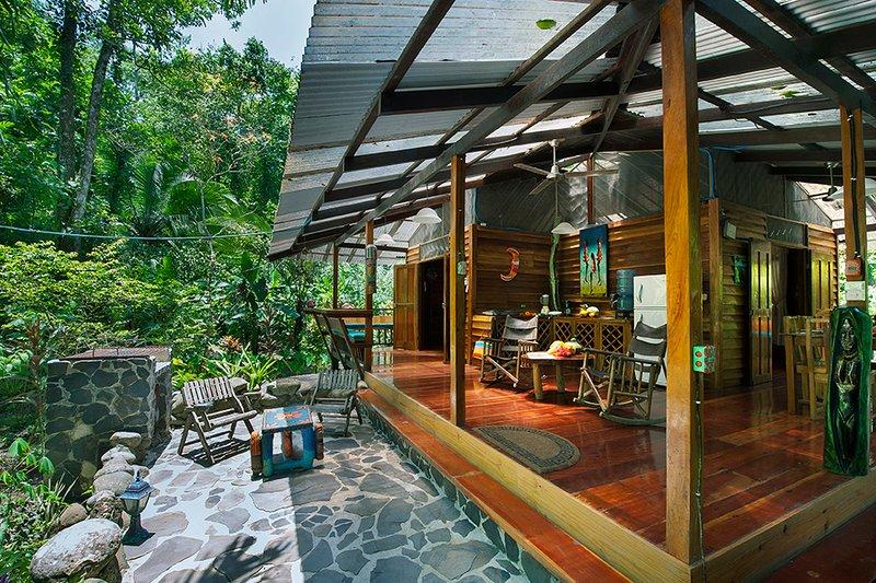 The Dream Caribbean House of Congo Bongo EcoVillage Costa Rica, holiday rental in Manzanillo