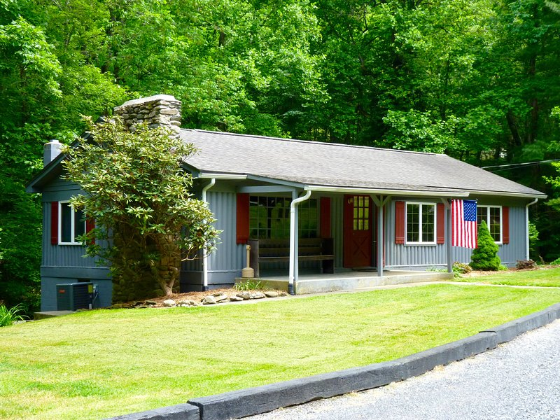 This is a Ranch-Style 3BR, Located with a Mountain Stream in the Back Yard
