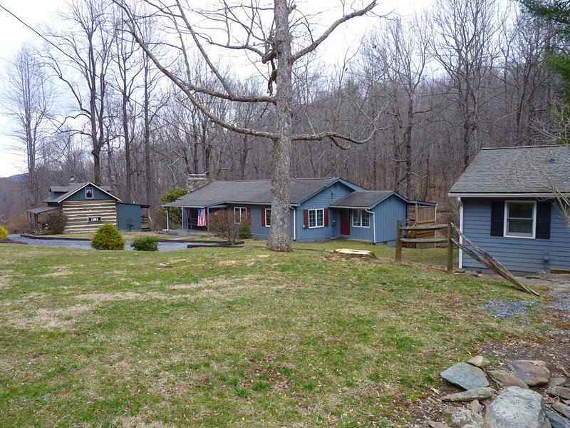 Another Photo Showing the Relationship of Logwood w/ our Other Cabins