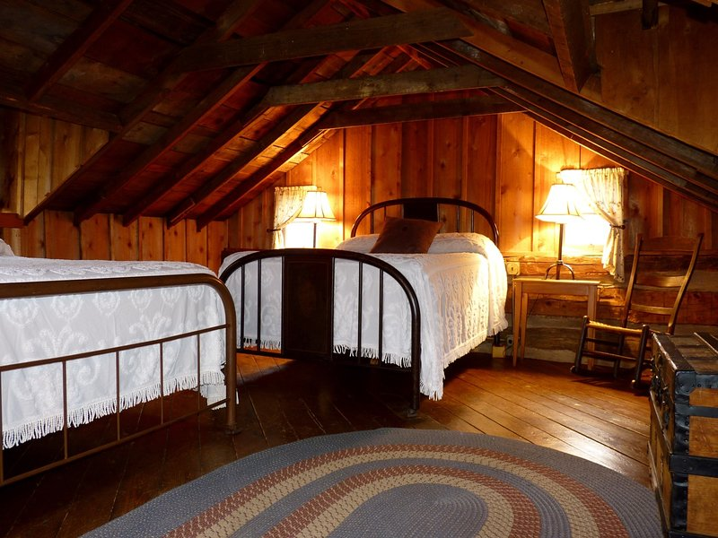 The Loft Bedroom, Featuring Two Antique Full-Size Beds