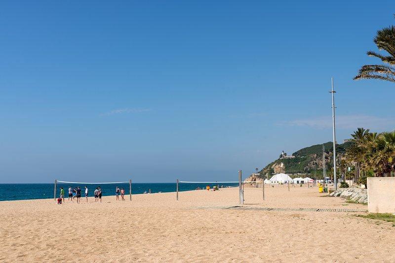 Beach apartment in Calella. Barcelona, aluguéis de temporada em Calella