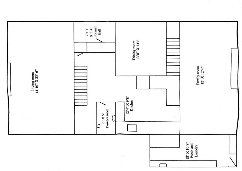 This is the floor plane of the down stairs area.