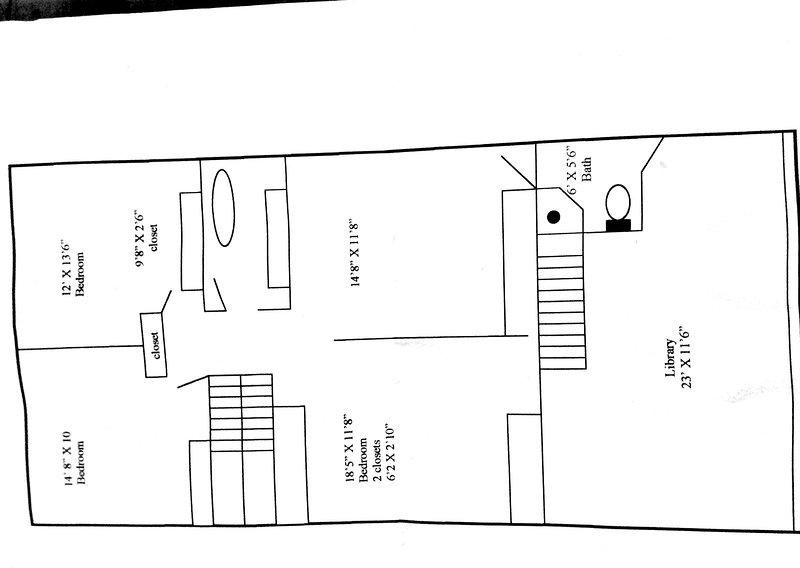 Questo è il layout del secondo piano della casa.