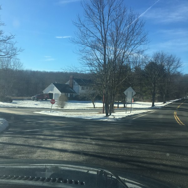 The house sits on the corner of Judd Farm and Guernsey Town Road- bordering on Bethlehem, CT