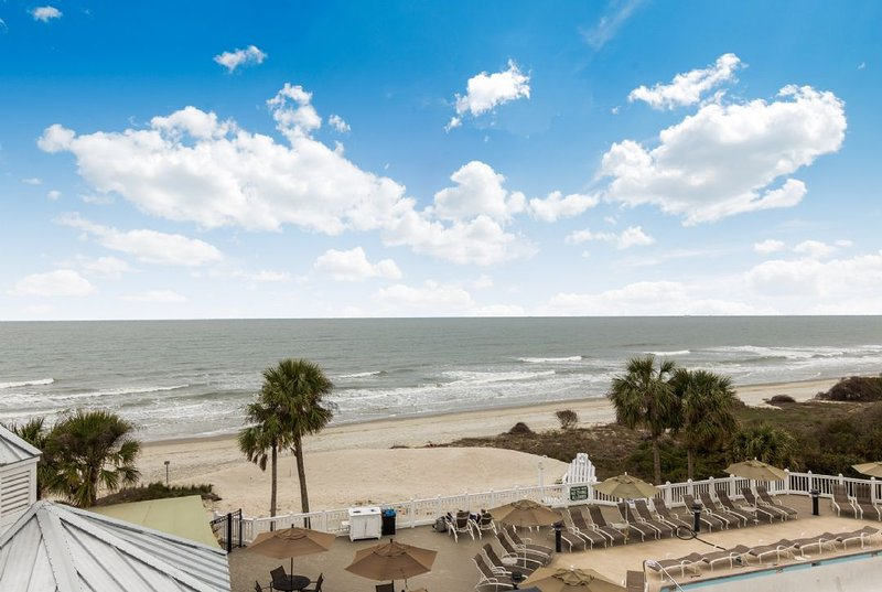 View of the beach from master bedroom balcony!