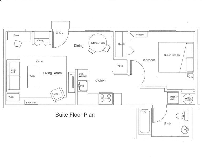 superficie del suelo es 520sf, 48 metros cuadrados