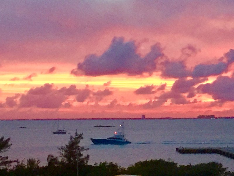 Sunset over Cancun Bay from Casa Cielo