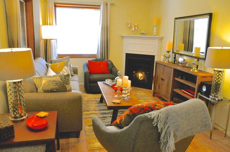 Mid Century Designer Living Room