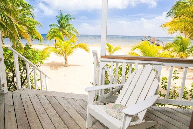 Sunnyside Dream Beach Home- Snorkel Reef Off 400' Dock! – semesterbostad i Sandy Bay