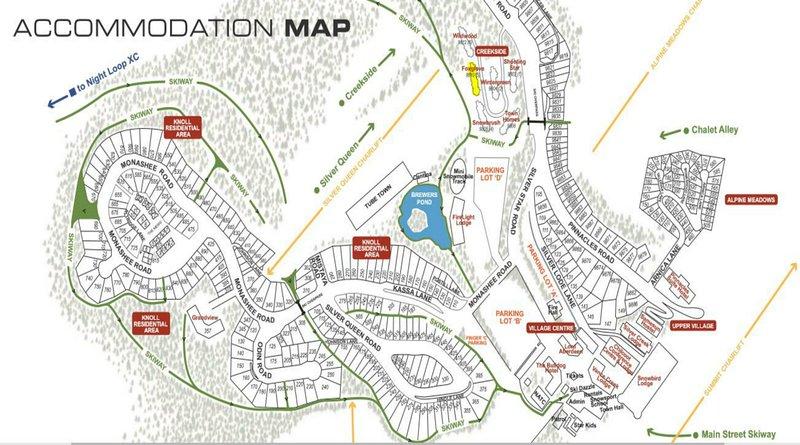 Fox Glove mapa de localização em Creekside