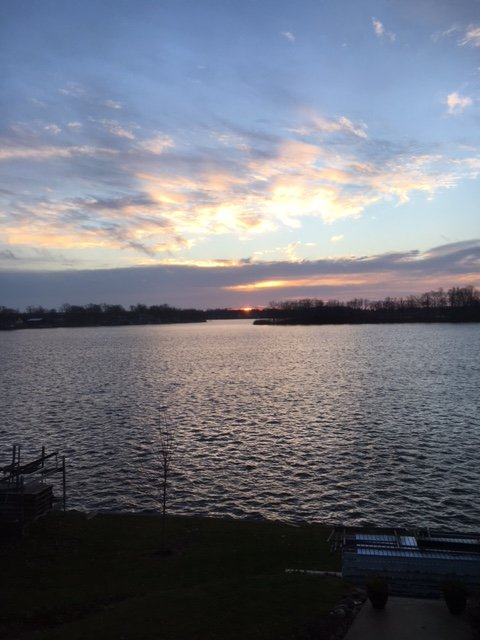 Lever du soleil sur le lac Webster