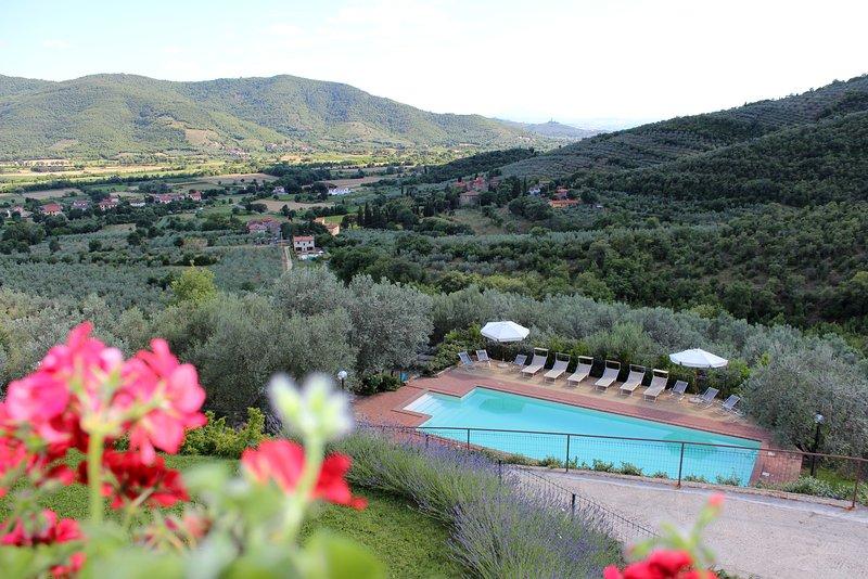 Villa Margarita, Spacious Tuscan Family home with lovely Pool, location de vacances à Castiglion Fiorentino