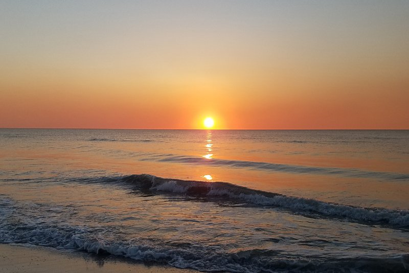 Amazing beach sunsets