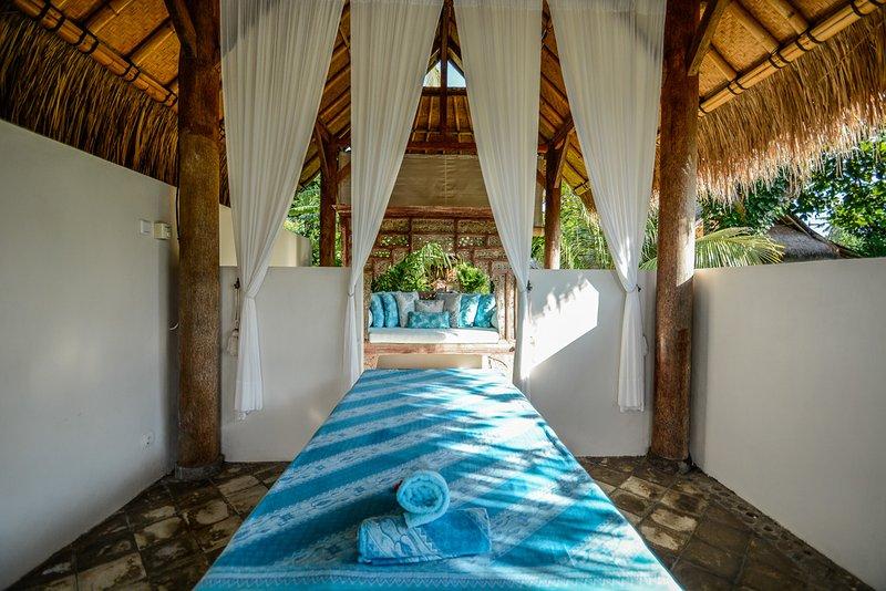 Oceanfront massage area.
