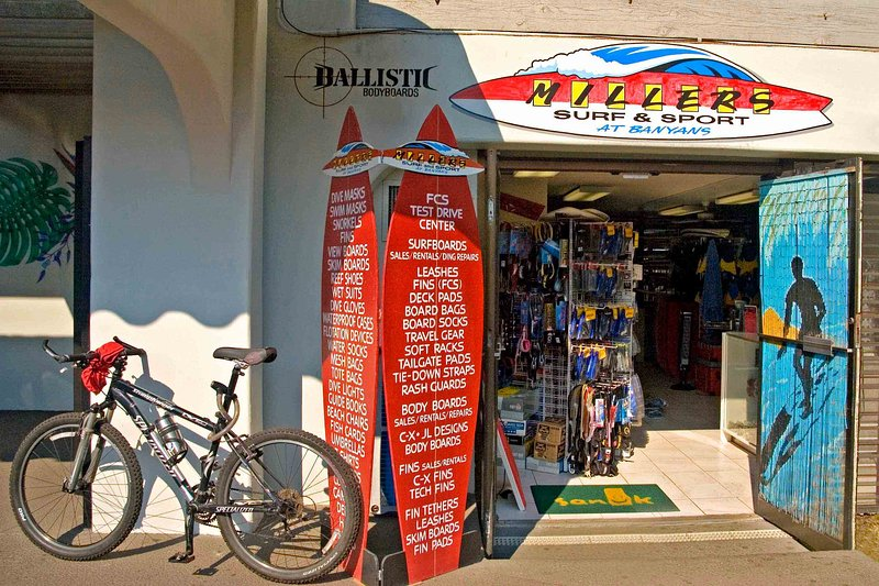 Millers Surf Shop right in the complex for all your water sport rentals.