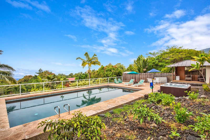 Enjoy amazing views poolside or while sitting in your private hot tub