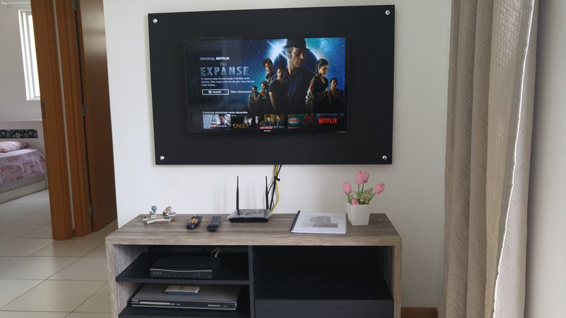LCD TV with wireless internet and netflix.