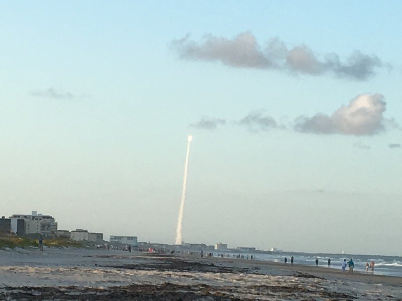 Shuttle Launch from our beach