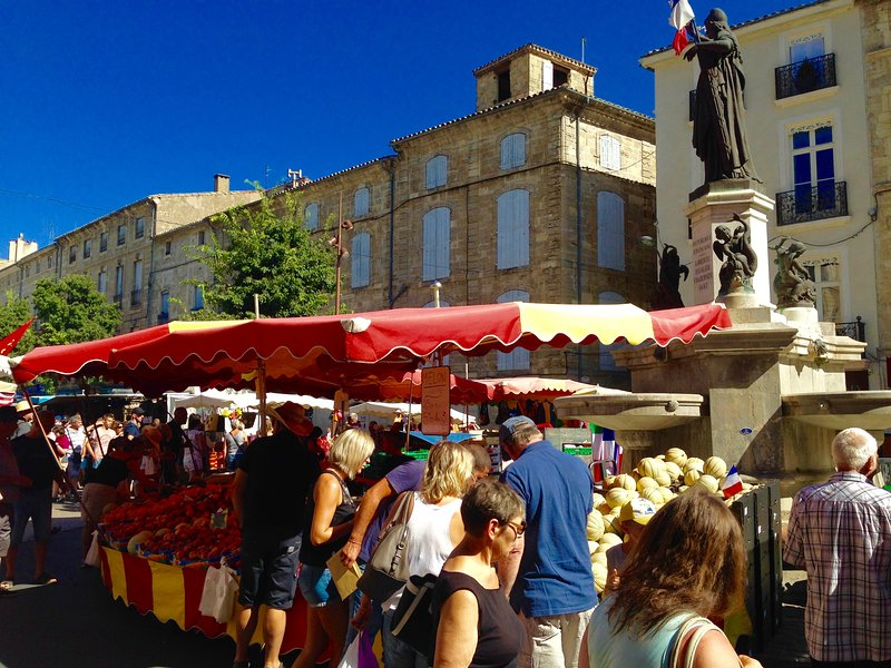Pezenas has a wonderful Saturday Market all year long that is steps from 'No.2'.