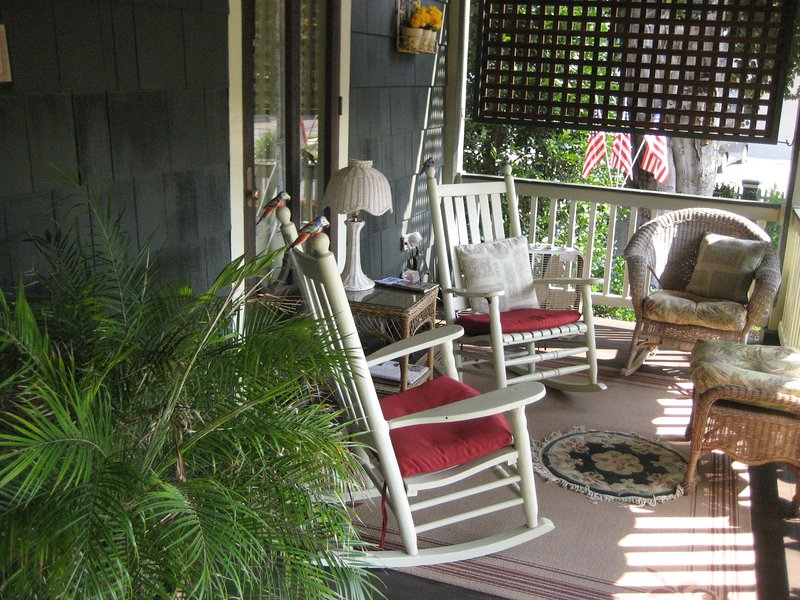 The Relaxing Front Porch at The Thomas Webster House!