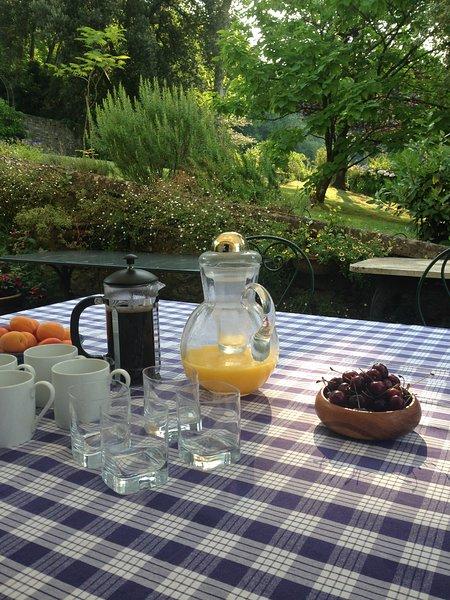 Breakfast on the Kitchen Terrace