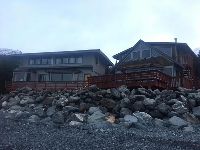 Fronte di Lodge dalla zona spiaggia