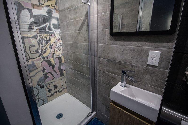 graffiti tiles  shower