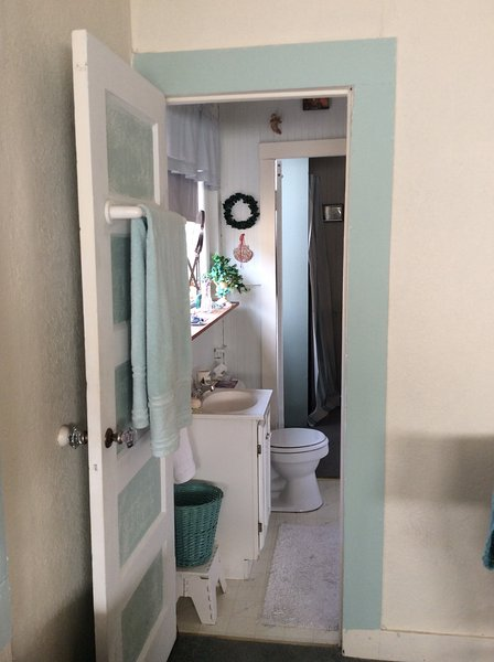 Bathroom.  I use laundry room area to get ready also.