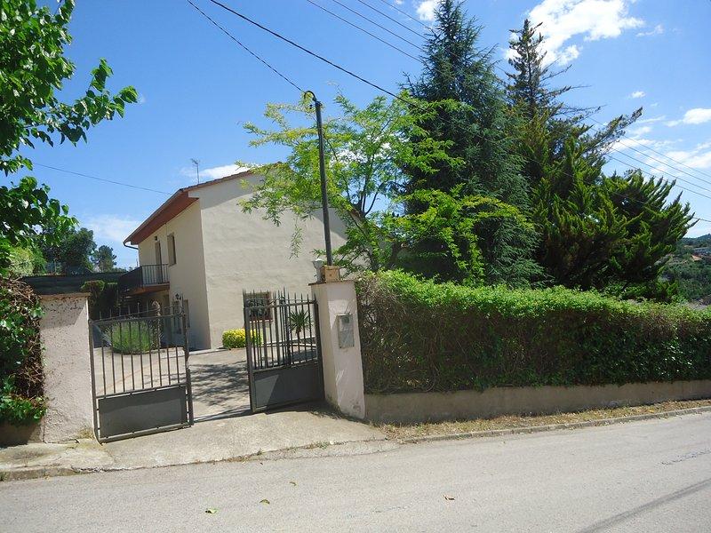 de ingang van de villa