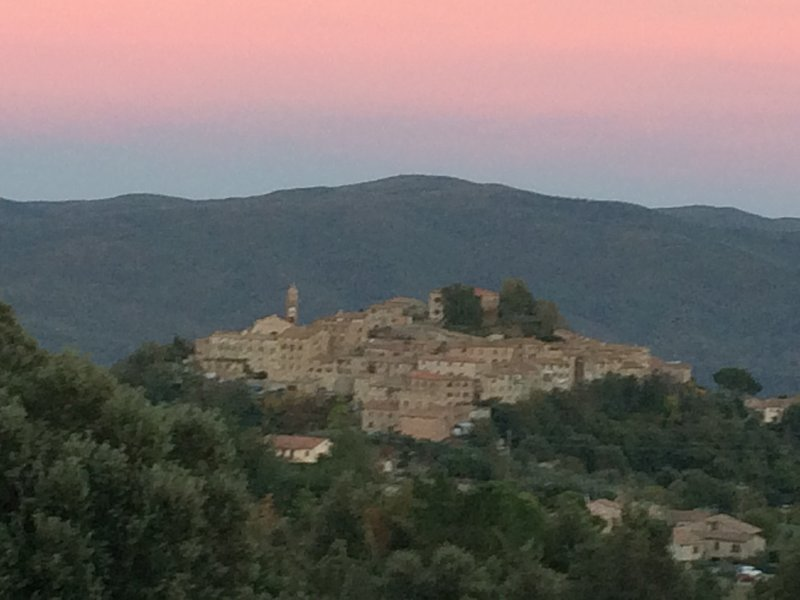 the village of Pari (GR) at sunset is about 2 km. from the house