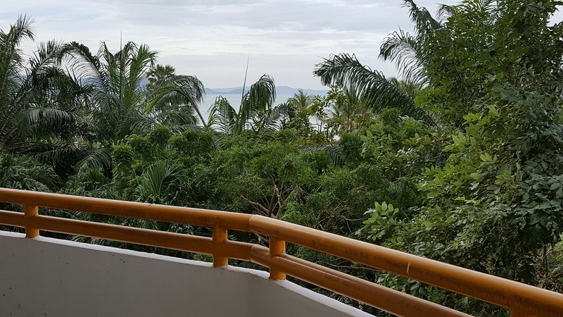 Vivendo entre o jardim eo mar é especial experiência de um piso inferior do edifício.