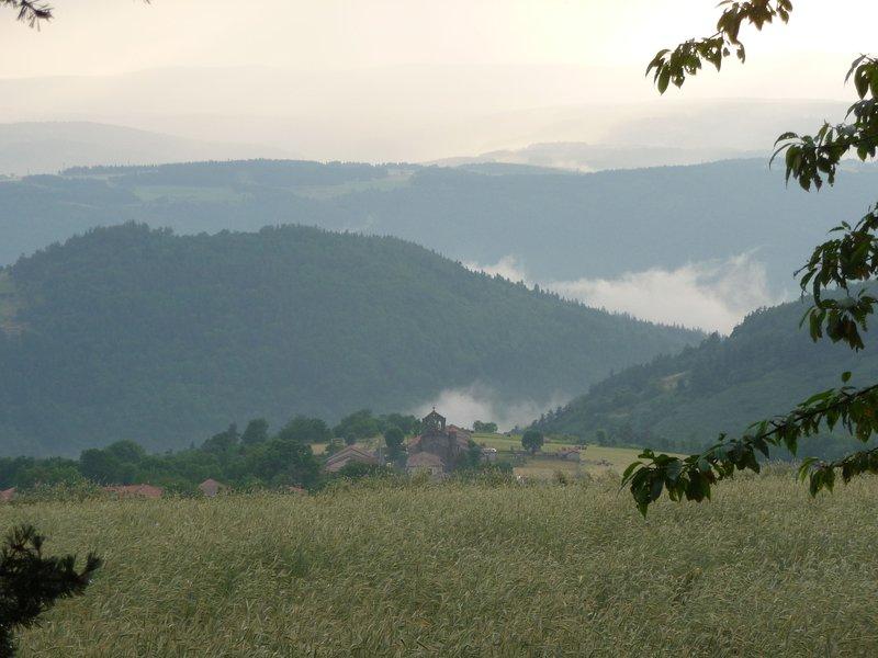 Am Rande des Gorges d'Allier