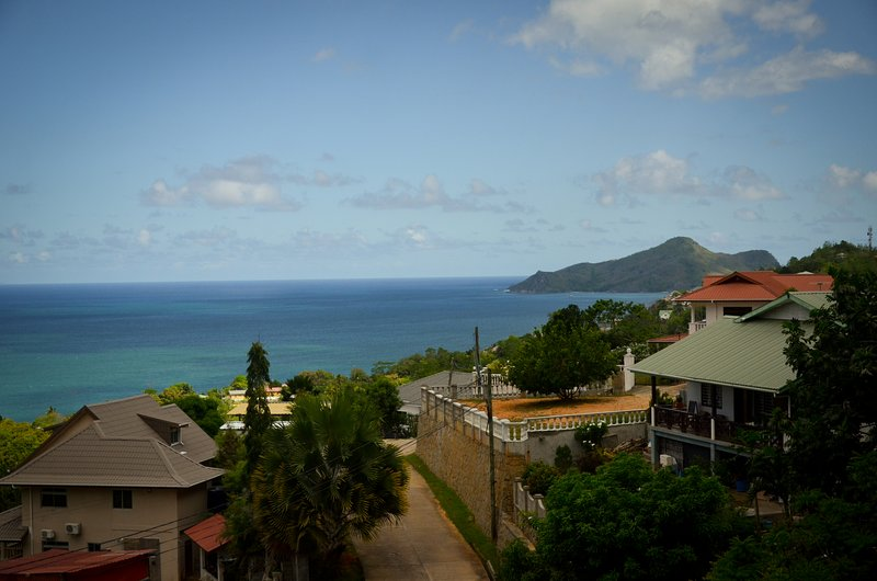 View of the ocean from balcony/terrace