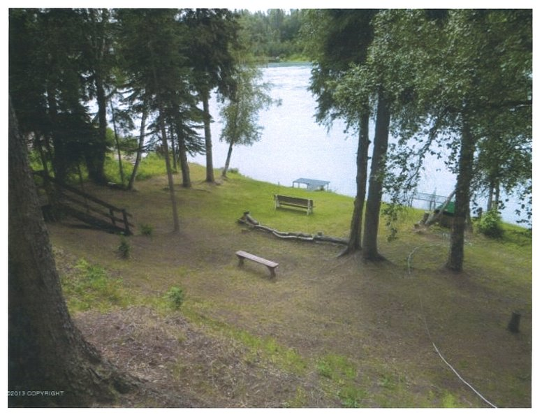 Bank of the Kenai from the House