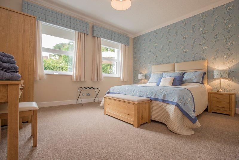 Castle Stuart - Downstairs quarto principal. Todos os quatro quartos são nomeados para o mais alto padrão.