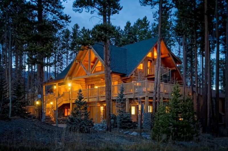 Ski Hill Lodge, a custom luxury full log home...located at the Base of Peak 8.