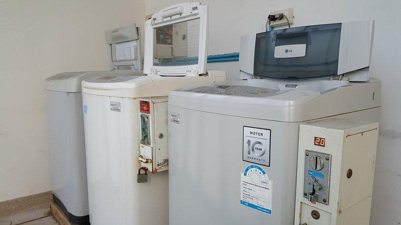 Moedas máquina de lavar roupa