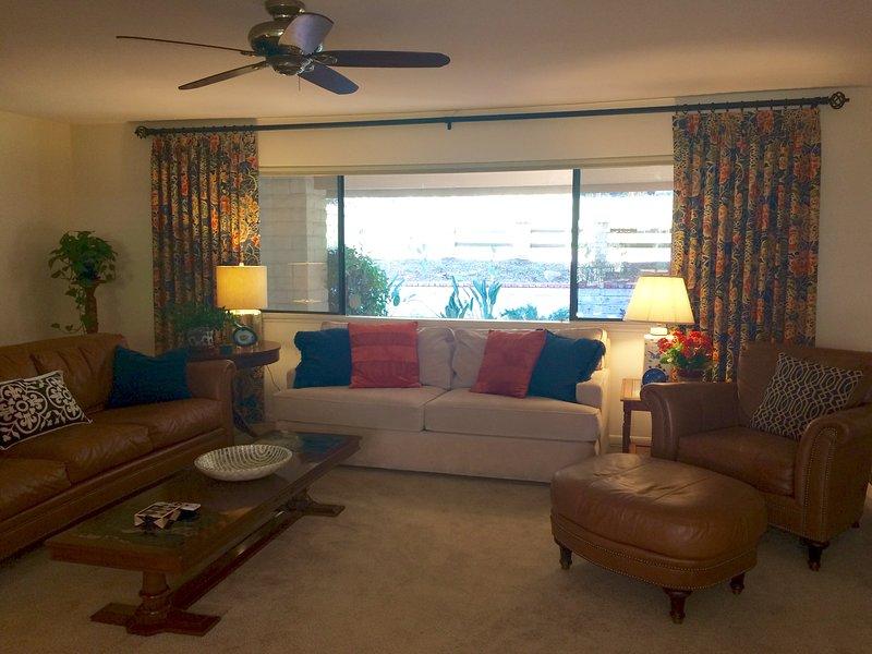 Queen sofa sleeper in main level family room