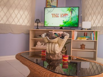 Living room spacious and airy . Smart TV